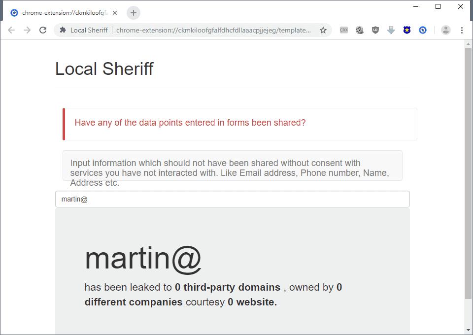 local sheriff
