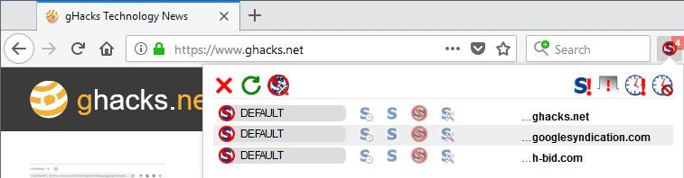 noscript interface