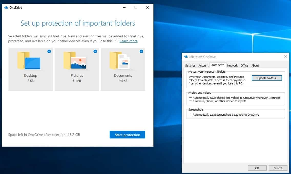 OneDrive's Protect your important files feature rolls out