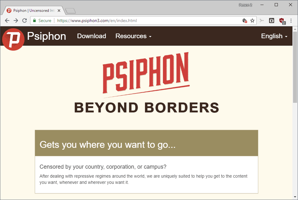 Psiphon anti-censorship tool review - gHacks Tech News