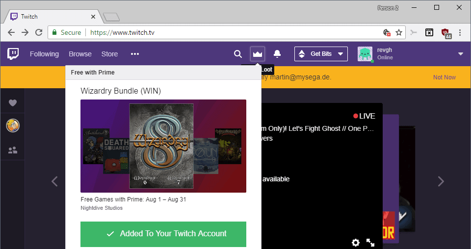 New Twitch Prime games for August 2018 - gHacks Tech News