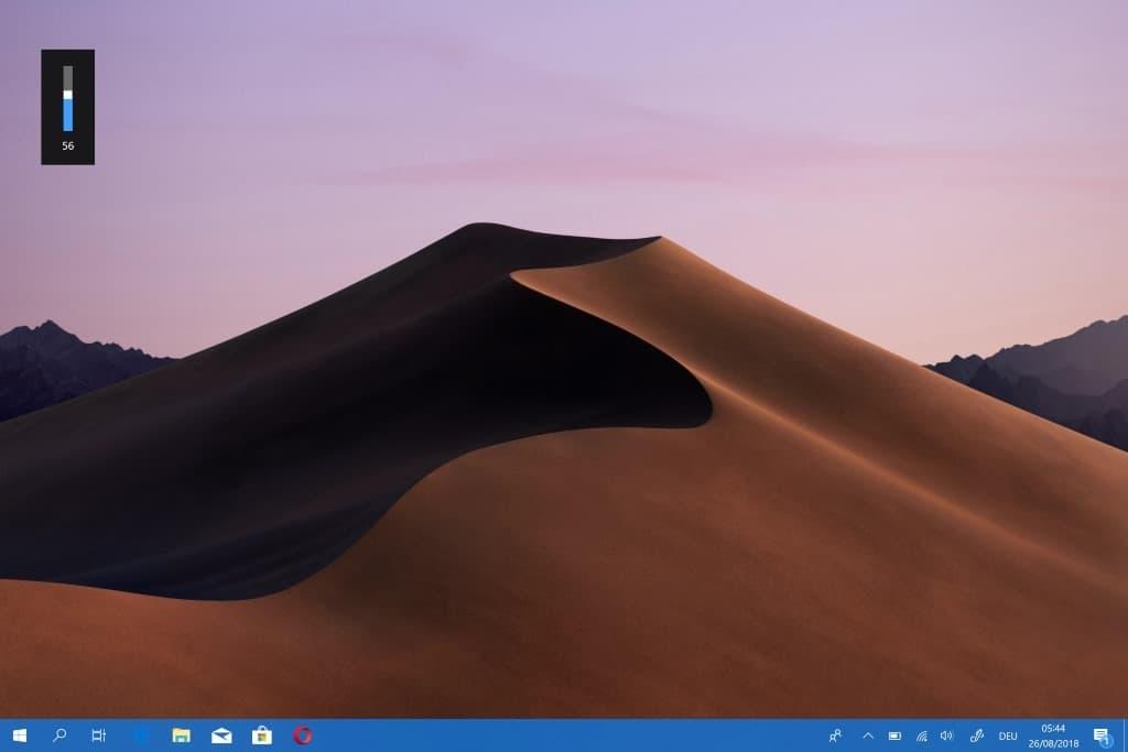 windows 10 on screen sound