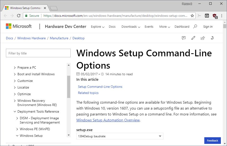 windows 10 setup commands