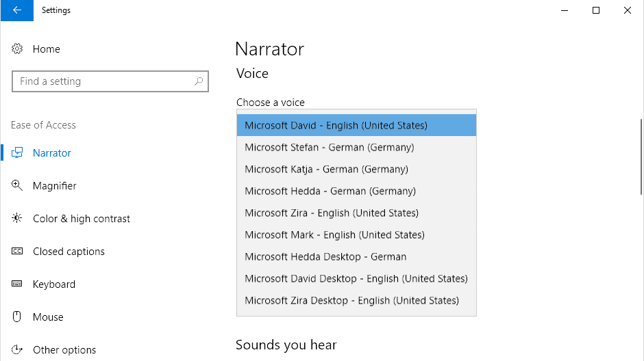 Unlock all Windows 10 TTS voices system-wide to get more of them