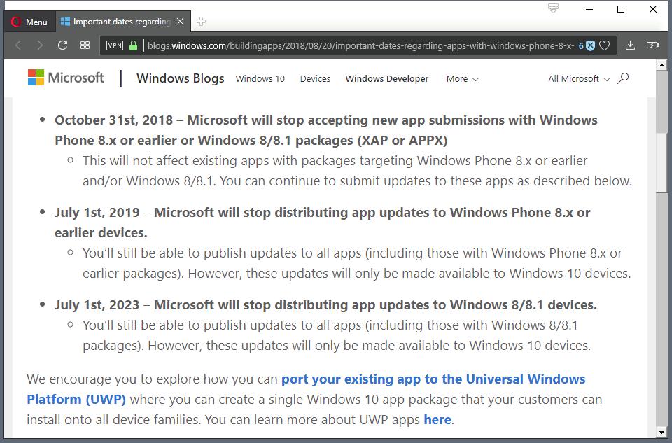 windows 8 end apps