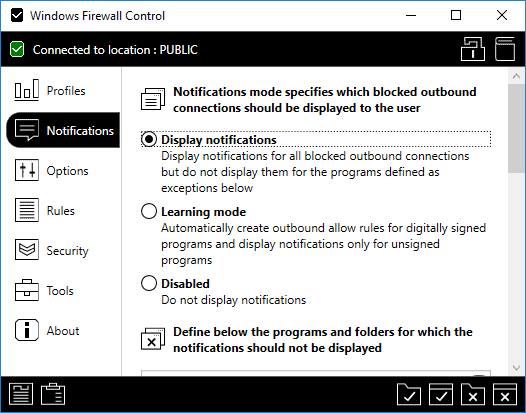 windows firewall control free notifications