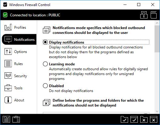 windows firewall control free notifications