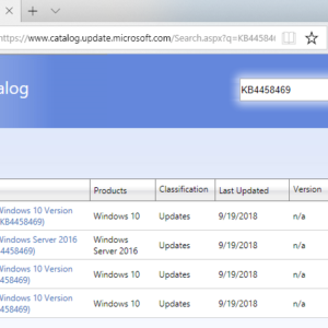 KB4458469 windows 10 update