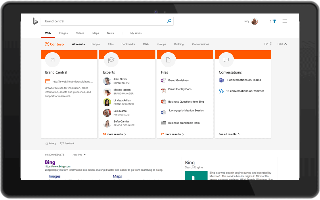 Microsoft Search brings Bing and Microsoft Apps closer together
