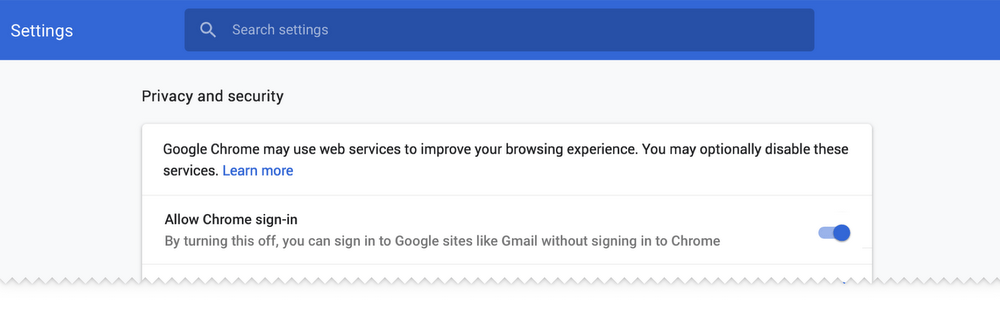 chrome sign-in