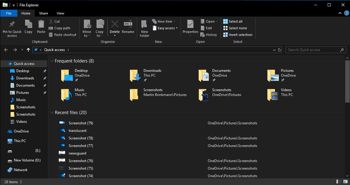 dark mode explorer windows