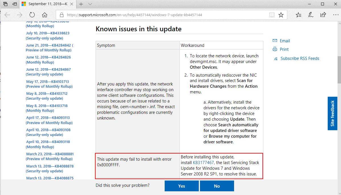 error 0x8000fff windows