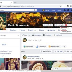 facebook hack view as