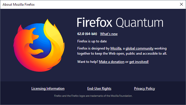 Firefox 62 0 release information - gHacks Tech News