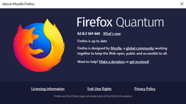 Mozilla Firefox 62.0.2 is out