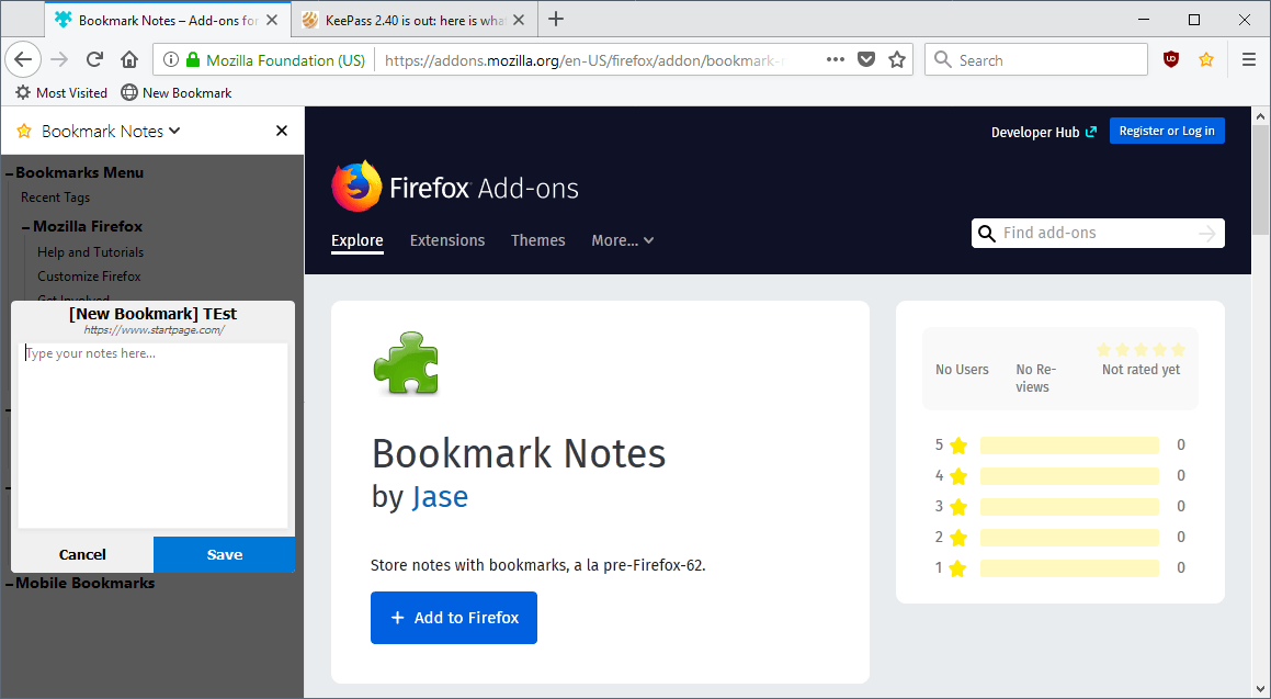 firefox bookmark notes