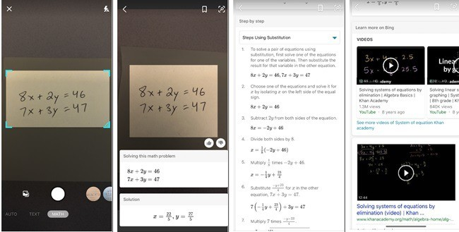 Bing Search does equations and text transcriptions now