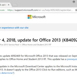 office 2013 september 2018