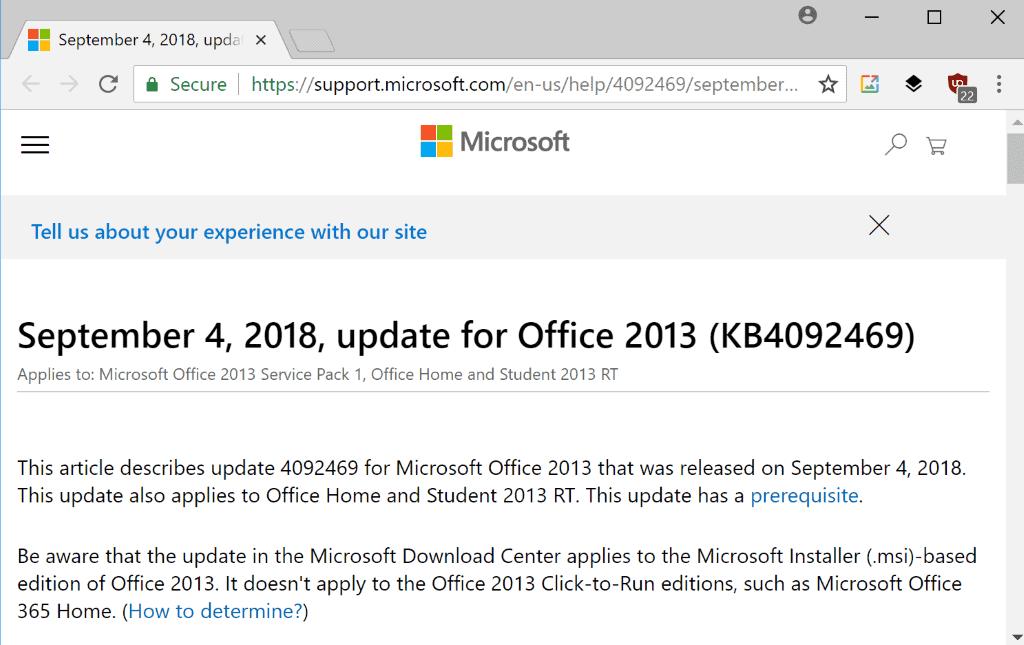 office 2013 september 2018