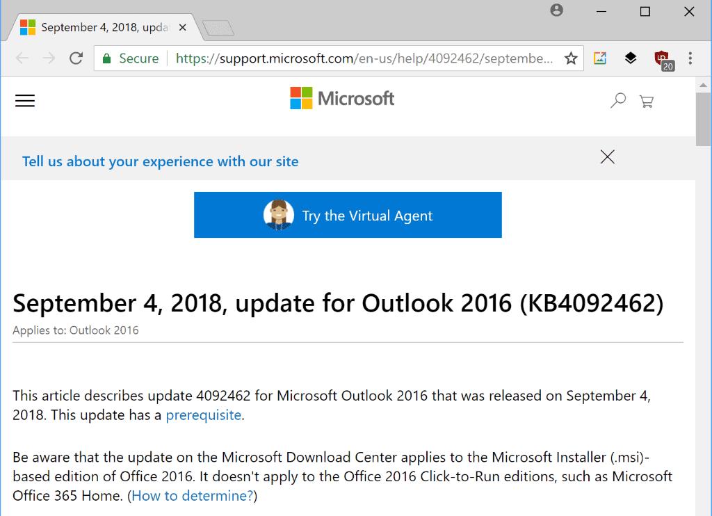 office 2016 september 2018