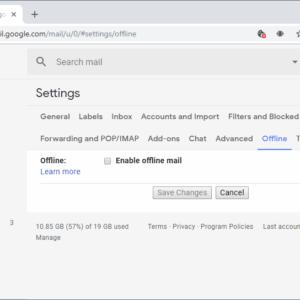 offline gmail
