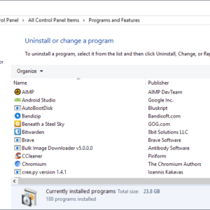 programs windows
