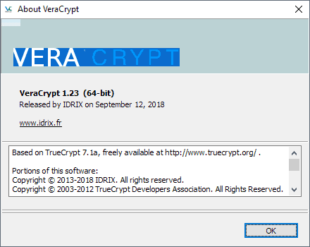 Encryption software VeraCrypt 1.23 released