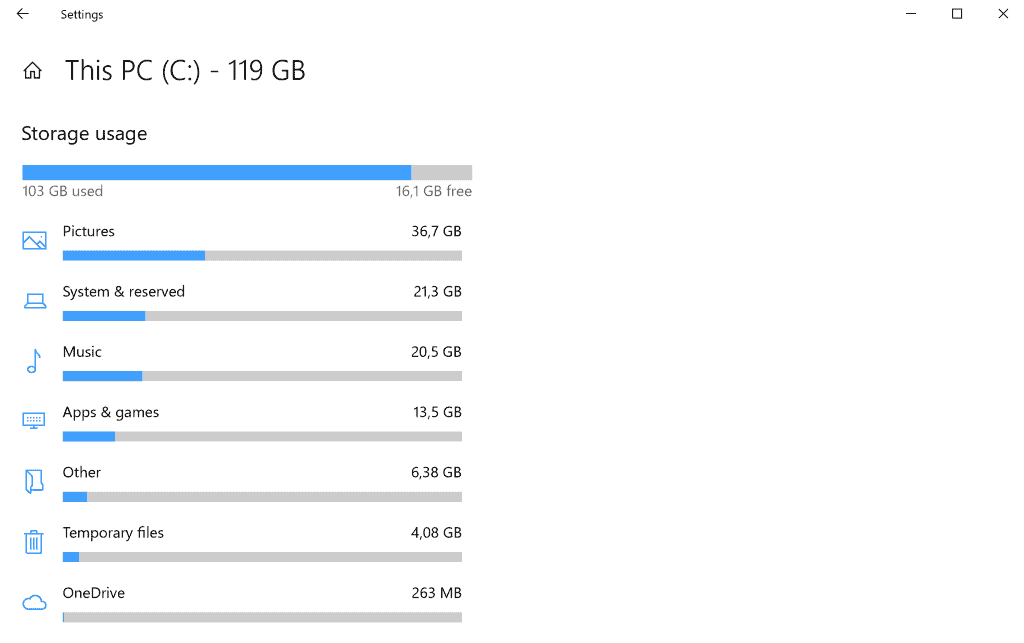windows 10 storage updates