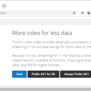 youtube av1 support