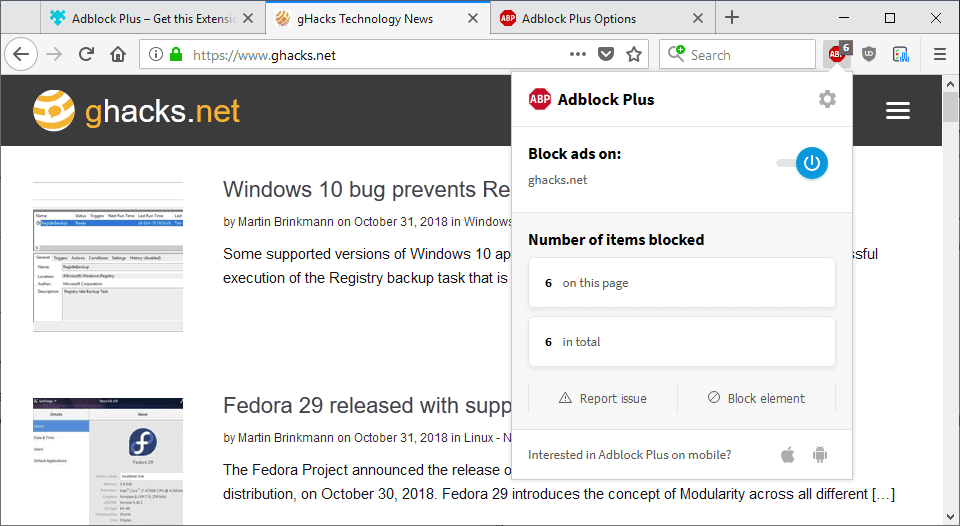 Adblock Plus 3.4 promises 50% memory use reduction