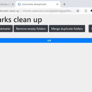 bookmarks clean up
