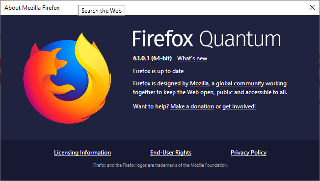 Mozilla releases Firefox 63.0.1