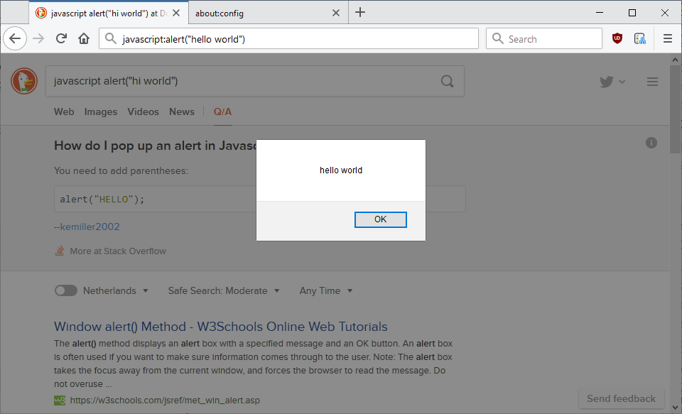firefox javascript address bar