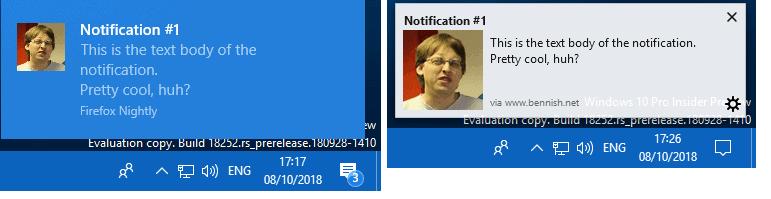 firefox old new notifications windows 10