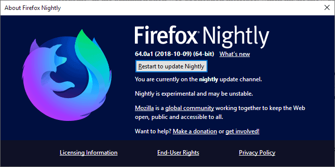 firefox update audit