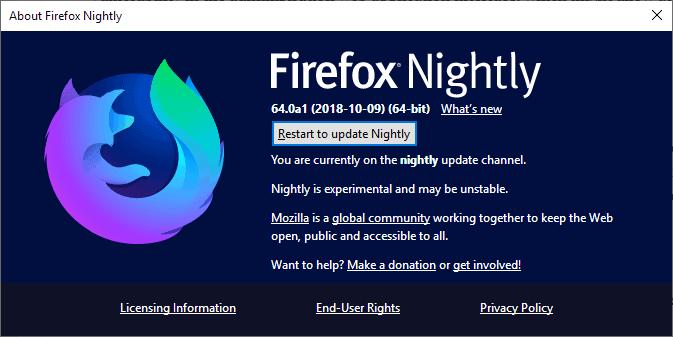 firefox update audit