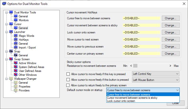 lock mouse cursor dual monitor