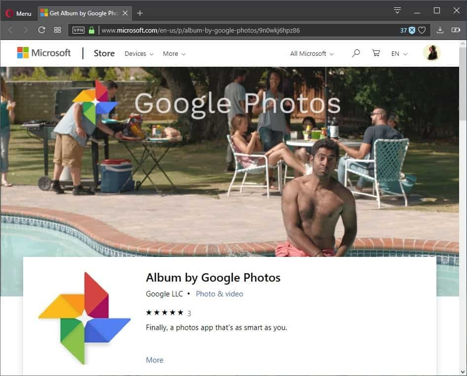 Did Google just release Google Photos for Windows 10