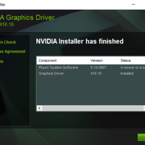 nvidia driver windows 10