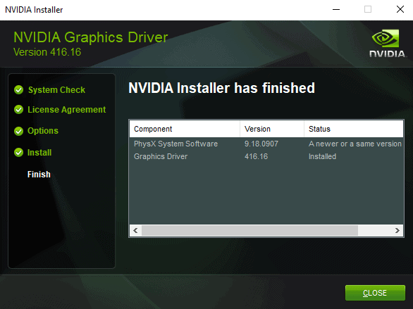 Nvidia GeForce 41616 With Windows 10 Version 1809 Support