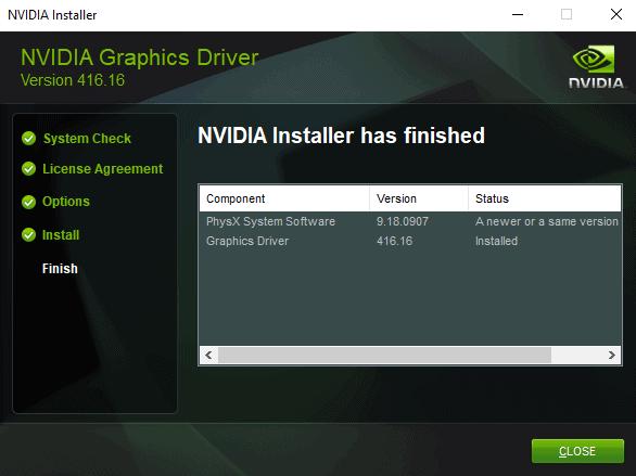 nvidia driver windows 10