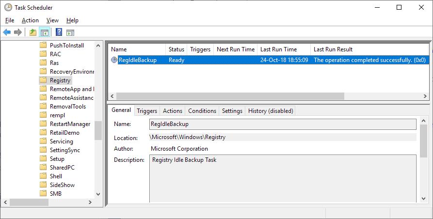 registry backup bug