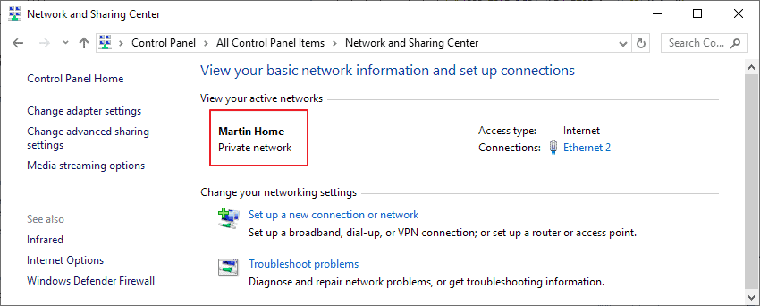 renamed network windows