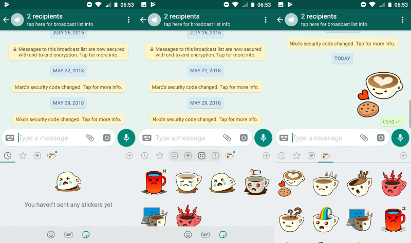WhatsApp rolls out Stickers support - gHacks Tech News