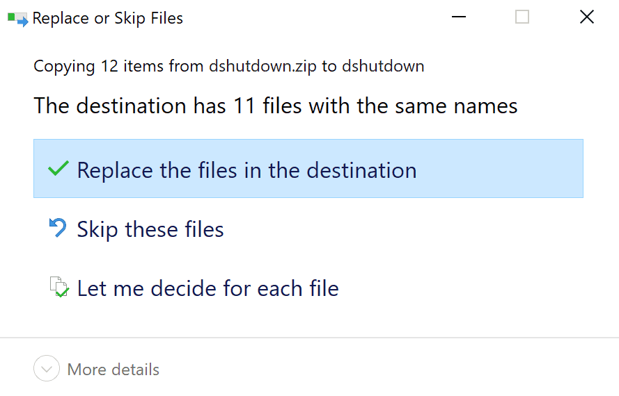 windows 10 zip data loss