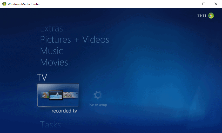 windows media center use