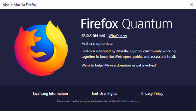 Firefox 63.0.3 is a small bugfix release