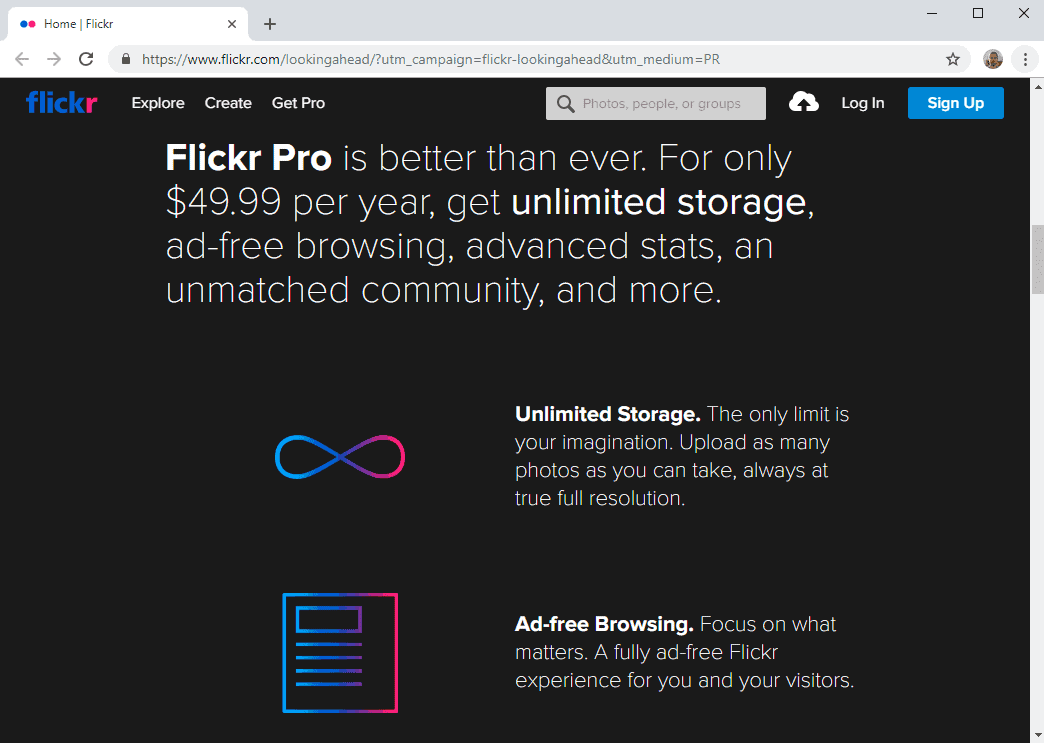 flickr free pro changes