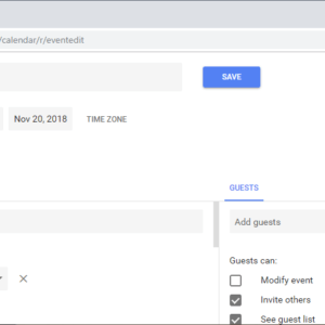 google calendar email notification