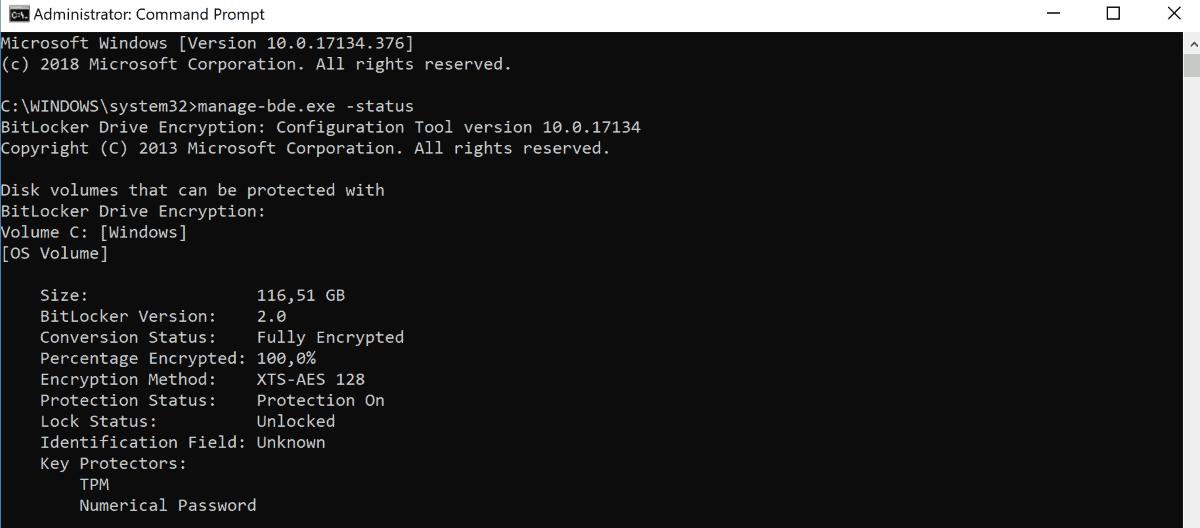 hardware ecryption check bitlocker